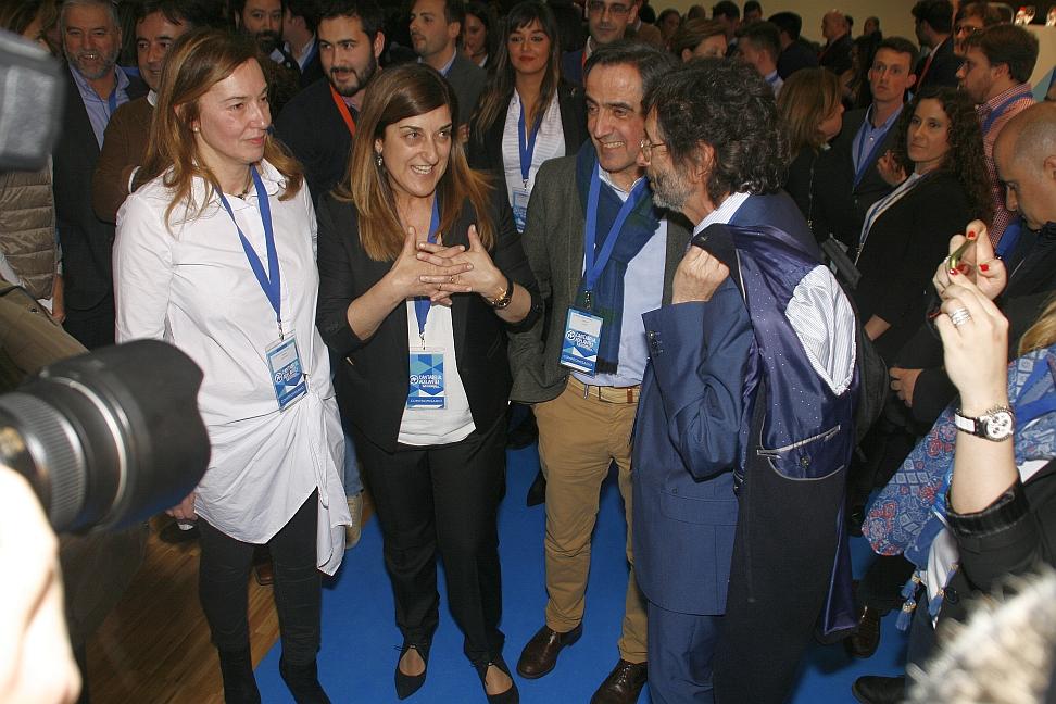 María José Sáenz de Buruaga ganó el convulso Congreso del PP por solo cuatro votos de diferencia - Foto (C) CANTABRIA DIARIO - David Laguillo, 25 de marzo de 2017