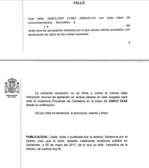Absueltos los dos acusados de apropiación indebida por la venta de palés del Banco de Alimentos de Camargo