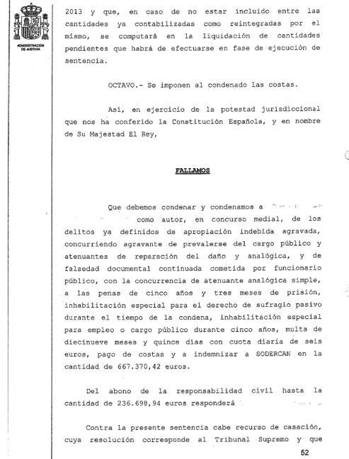 Cinco años y tres meses a un directivo de SODERCAN por falsificar órdenes de pago para apropiarse de 667.000 €