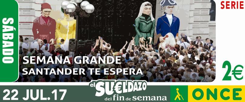El cupón de la ONCE 'se viste' de fiesta para la Semana Grande de Santander