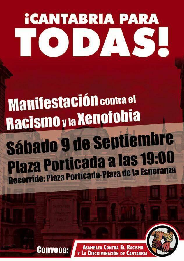 Convocada una manifestación contra el racismo y la xenofobia