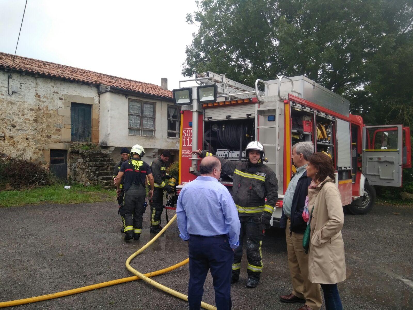 Fallece un anciano en el incendio de su vivienda en Tezanos