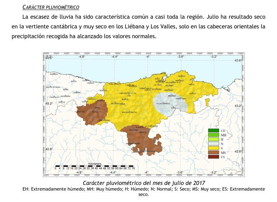 Julio fue seco y cálido en Cantabria