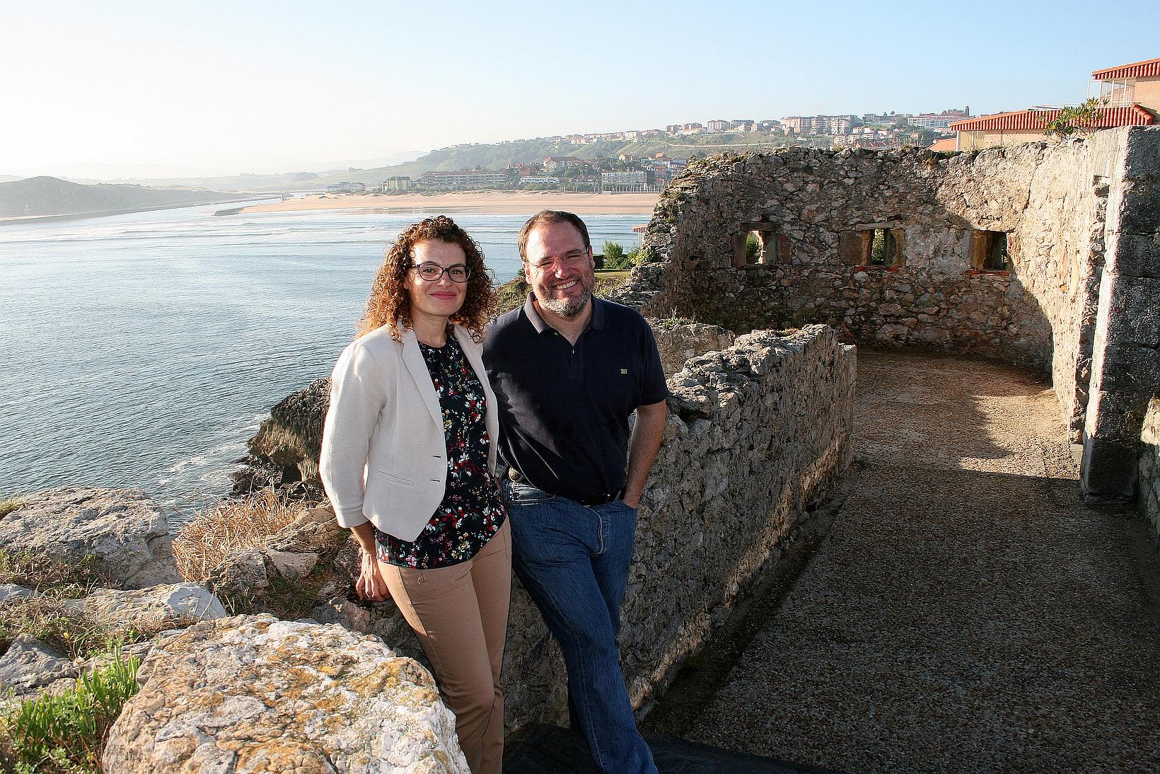 Alicia Sánchez Lorente y Antonio Cofiño - Foto: Universidad de Cantabria