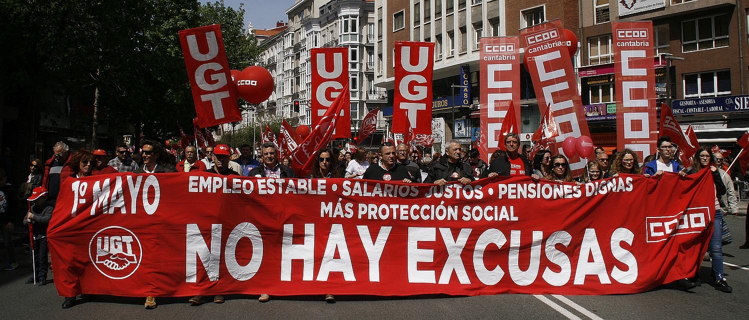 Manifestación del 1 de mayo de 2017 en Santander (C) Archivo CANTABRIA DIARIO