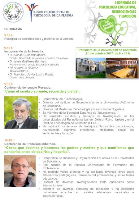 El Colegio de Psicología organiza la I Jornada de Psicología Educativa, Neurociencias y Emoción para padres