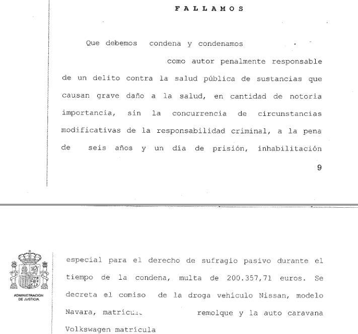 Seis años de prisión y multa de 200.000 euros por tratar de introducir en España 15.000 pastillas de éxtasis