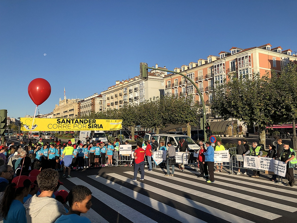 """Más de 1.100 personas apoyan la carrera """"Santander corre por Siria"""""""
