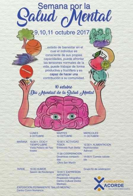 La Fundación Acorde celebra una semana especial de actividades por el Día Mundial de la Salud Mental