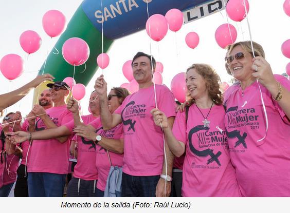 Casi 4.000 personas participaron en Bezana en la XII Carrera de la Mujer