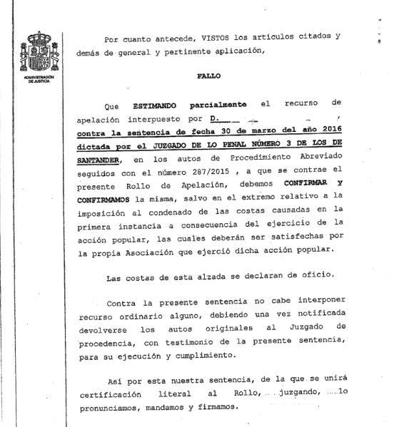 La Audiencia de Cantabria confirma la condena al hombre que mató al perro Blas a patadas