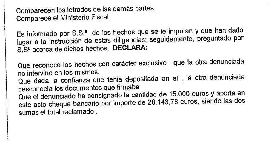 Los acusados devuelven los 43.000 euros sustraídos de la Junta Vecinal de Soto de la Marina