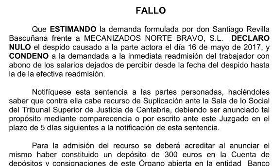 La Justicia declara nulos los despidos de dos trabajadores de Mecanor afiliados a UGT