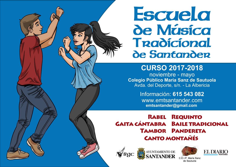 Sigue abierto el plazo de matrícula de la Escuela de Música Tradicional de Santander