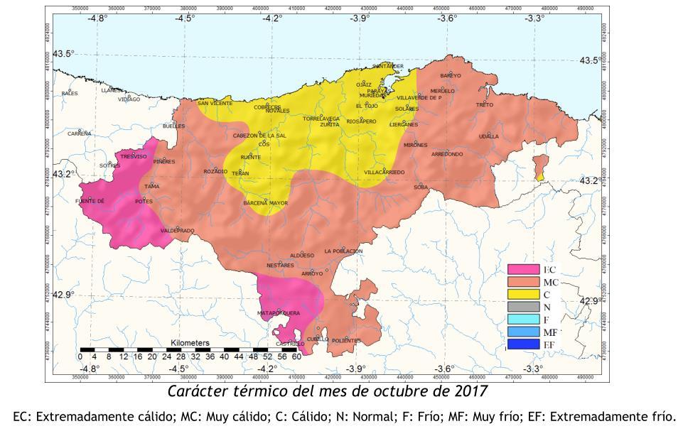 Octubre fue muy cálido y seco en Cantabria - Fuente: AEMET