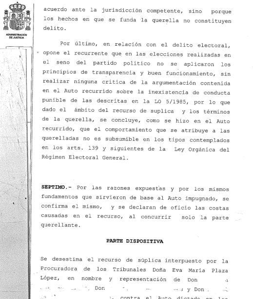 El TSJC confirma el archivo de la querella contra la presidenta del Partido Popular