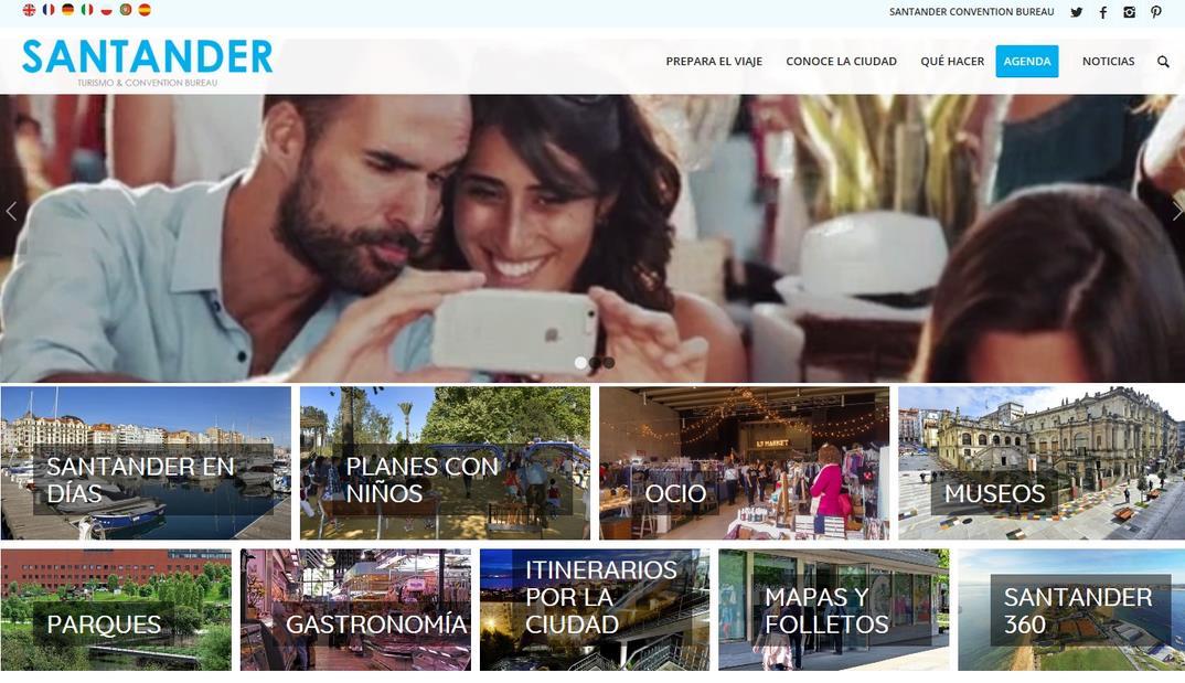 La nueva web de Turismo de Santander ya está en marcha