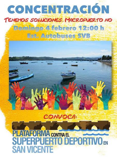 El sábado, concentración contra el Superpuerto deportivo de San Vicente de la Barquera