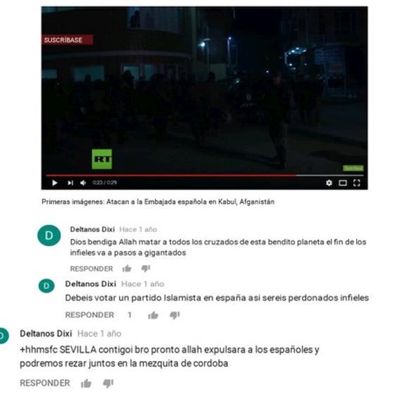 """Detenido en Elche un ciudadano español que enaltecía en redes sociales atentados del ISIS: """"Dios bendiga a Alá, matar a todos los cruzados de este bendito planeta"""""""