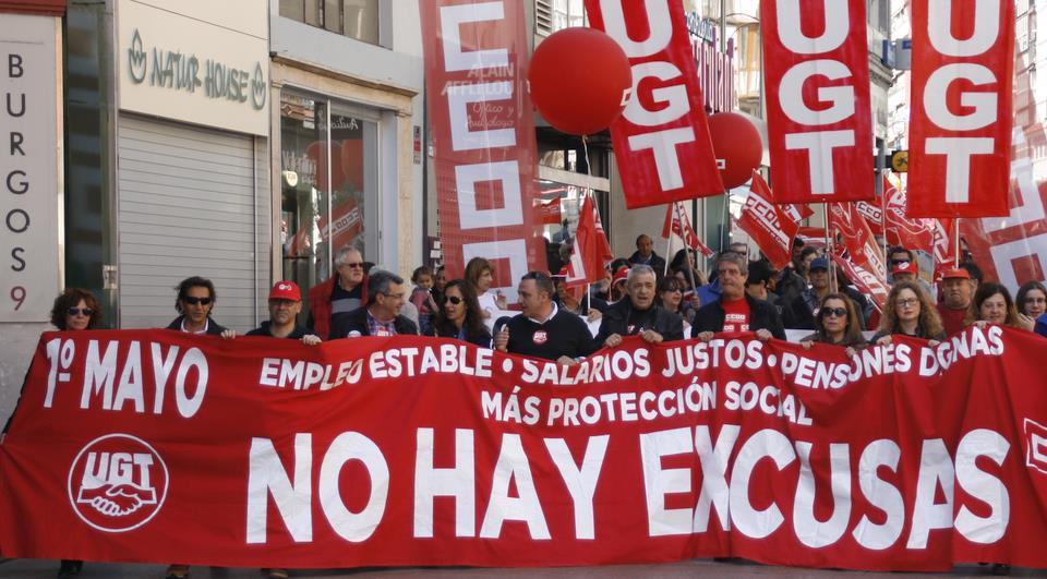 Manifestación del 1 de mayo de 2017 en Santander - Foto: archivo CANTABRIA DIARIO
