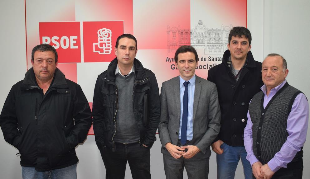 El PSOE apoya las reivindicaciones de los taxistas de Santander tras la implantación del Metro-TUS