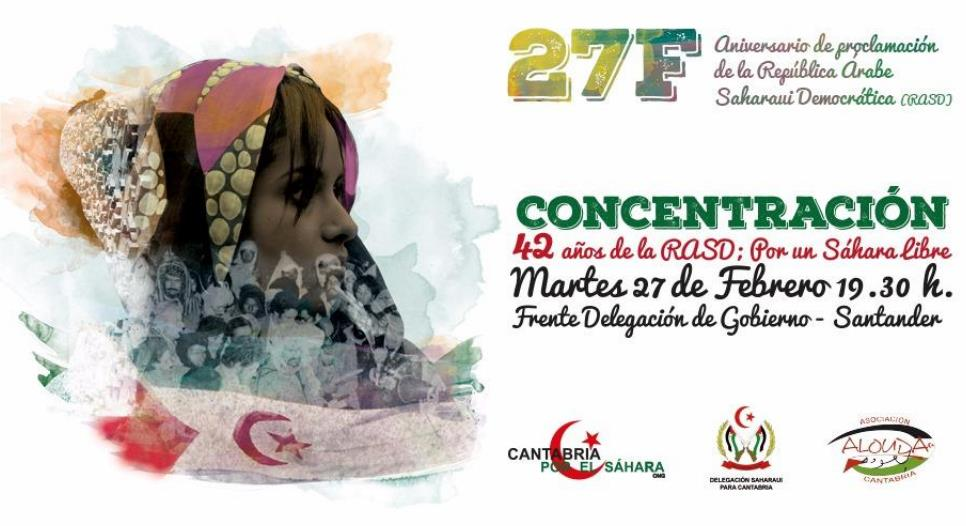 Convocada una concentración en conmemoración de los 42 años de la república saharaui