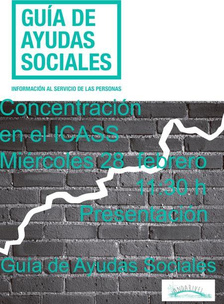 Organizada una concentración frente al ICASS para presentar la Guía de Ayudas Sociales