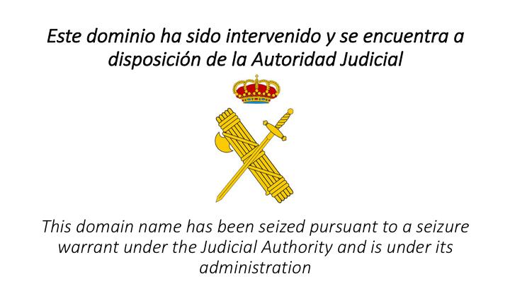 La Guardia Civil bloquea 23 páginas web dedicadas a la distribución de contenidos protegidos por derechos de propiedad intelectual