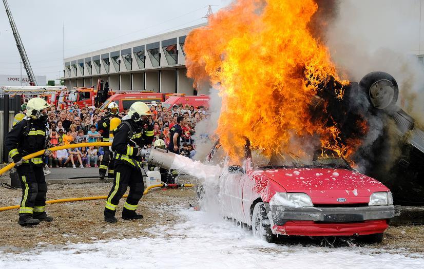 Imagen de archivo de la jornada de 2017 - El parque de bomberos de Santander celebrará este domingo una jornada de puertas abiertas
