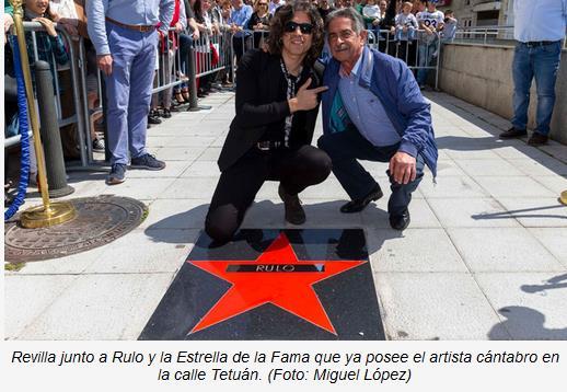 Rulo junto a Miguel Ángel Revilla - Rulo ya tiene su Estrella de la Fama en Tetuán