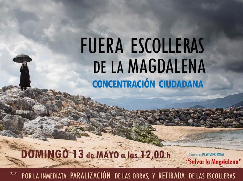 Nueva concentración contra las escolleras de La Magdalena