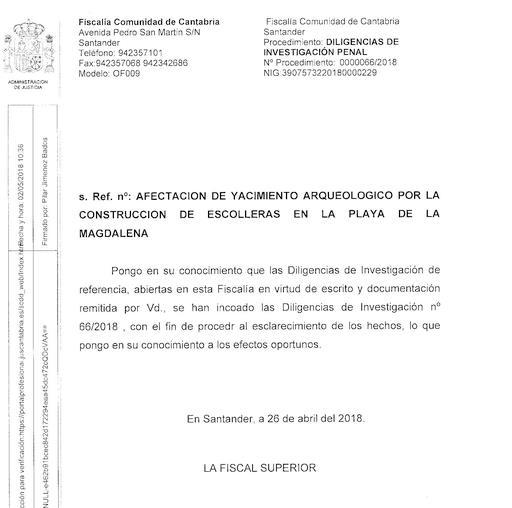 La Fiscalía investiga las escolleras de La Magdalena