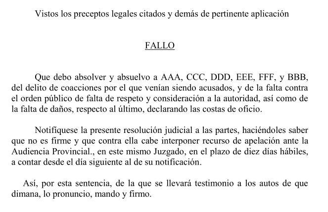Absueltos los seis acusados de realizar un escrache a Ignacio Diego en el campus de la Universidad