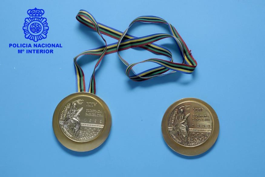 La Policía Nacional detiene al presunto autor del robo de las dos medallas olímpicas