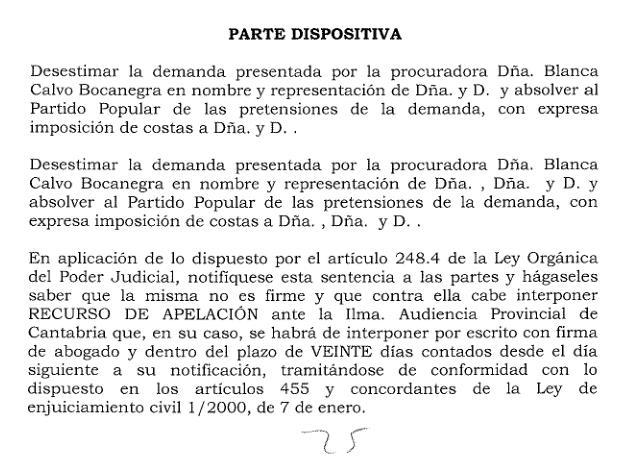 Desestimadas las dos demandas de militantes del PP que pretendían la nulidad del Congreso regional