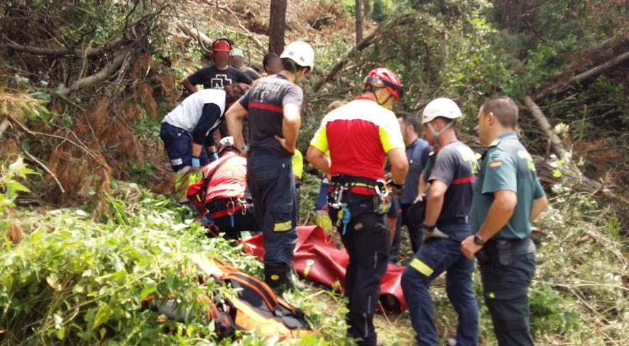 Un hombre resulta herido grave tras caerle una rama en una zona forestal de Soba