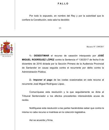 El TS rechaza el recurso de un exconcejal de Castro Urdiales por el 'caso Trapur'