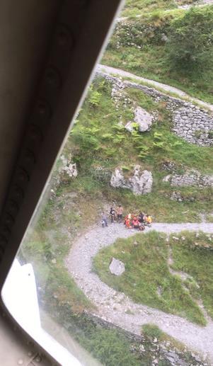 El helicóptero del Gobierno evacua a un hombre tras sufrir una crisis convulsiva en la ruta de Tresviso
