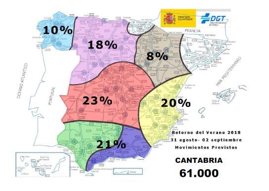 """Se prevén más de 61.000 desplazamientos en Cantabria durante la operación """"Retorno del Verano"""""""