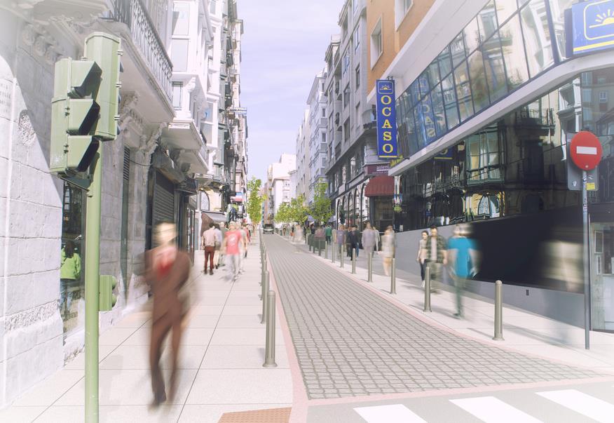 Las obras de renovación urbana de la calle Cervantes comienzan el lunes