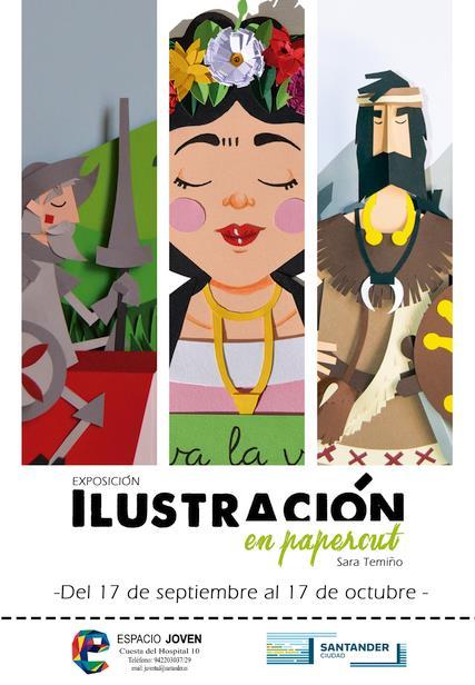 Espacio Joven inaugura la exposición 'Ilustraciones en Papercut' de Sara Temiño