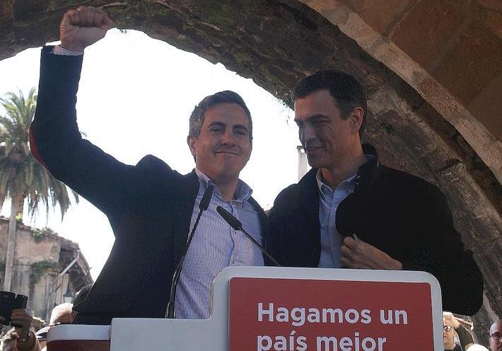 Pablo Zuloaga y Pedro Sánchez / Foto: archivo CANTABRIA DIARIO