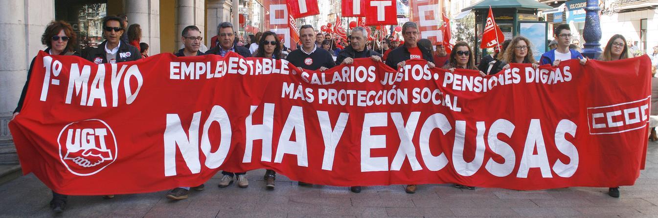 Manifestación del 1 de mayo en Santander / Archivo