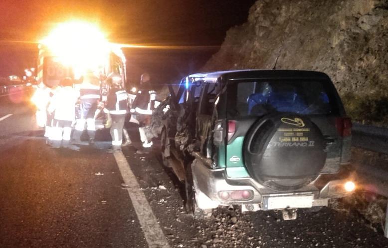Herido un conductor después de un choque en la A67