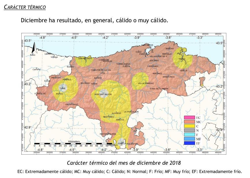 Cantabria tuvo un mes de diciembre entre los cuatro o cinco más secos desde 1981
