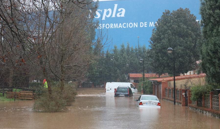Inundaciones en Torrelavega, 24 de enero de 2019