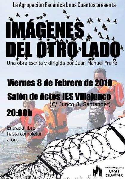 """""""Imágenes del otro lado"""", nuevo montaje de la Agrupación Escénica Unos Cuantos para transmitir el drama de los inmigrantes"""
