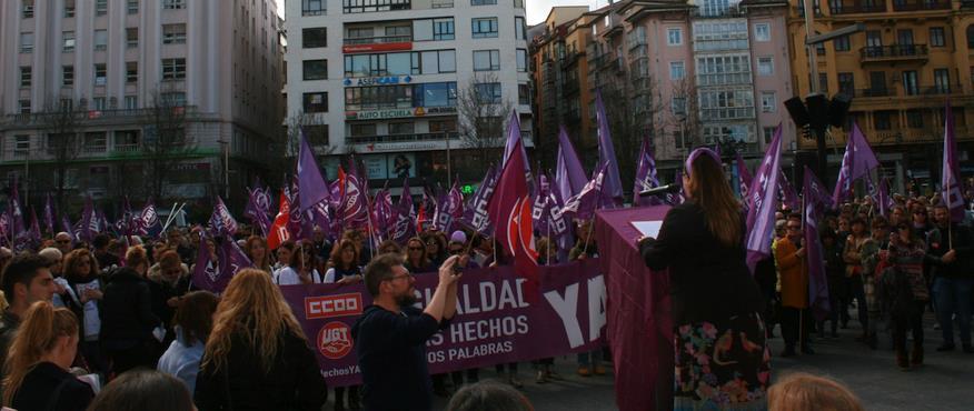 """CCOO y UGT manifiestan su """"satisfacción"""" por el efecto de la huelga del 8-M"""