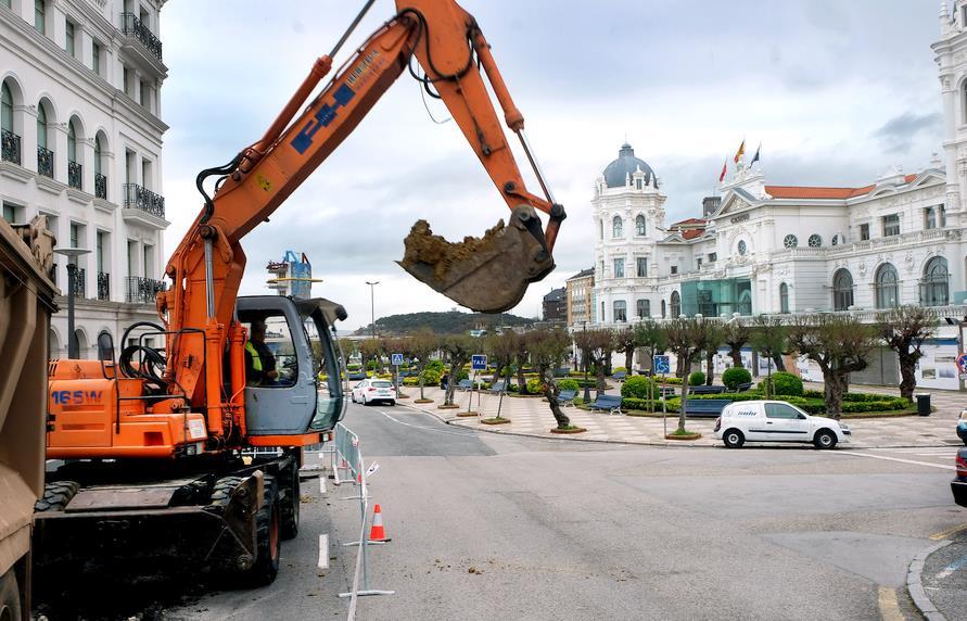 Las obras de remodelación de la plaza de Italia y los Jardines de San Roque comienzan por el tramo final de la avenida de Los Infantes