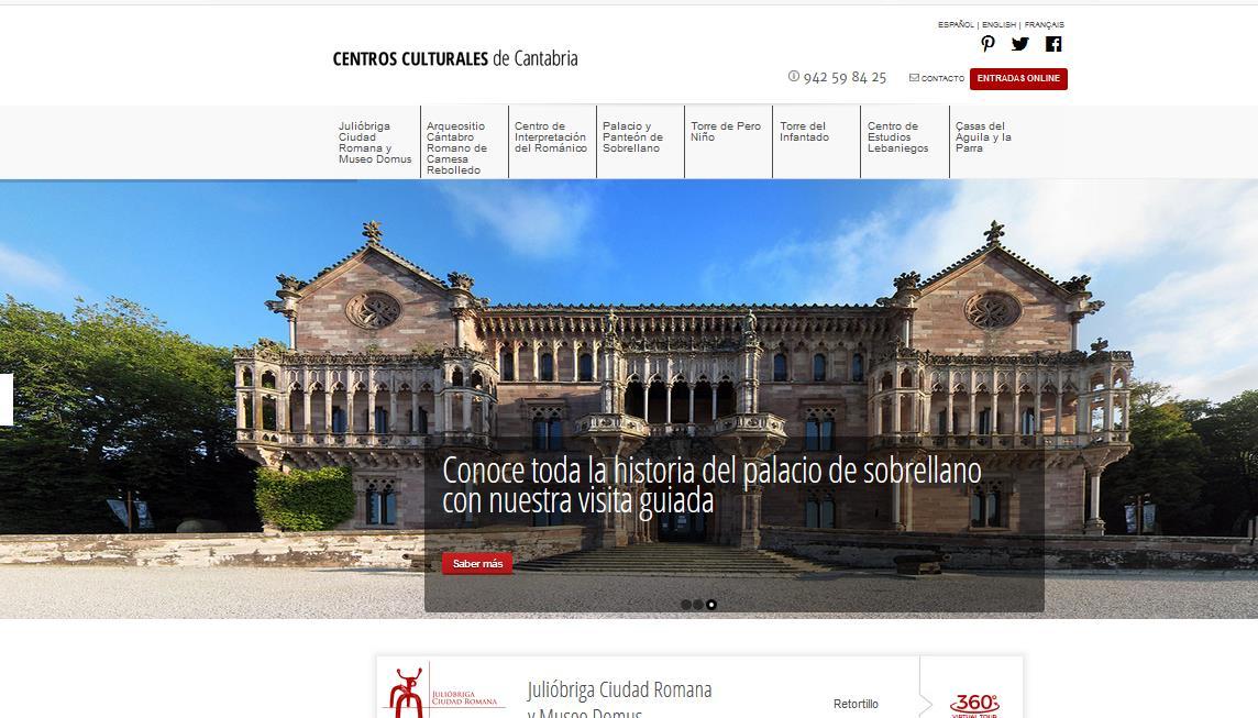 La red de centros culturales de Cantabria estrena su web con un diseño moderno que agiliza la navegación al usuario